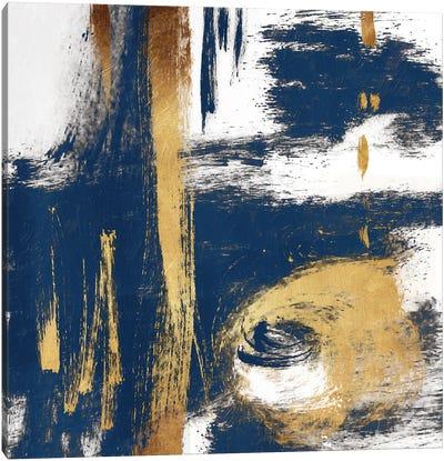Rotational Pull Blue Canvas Art Print