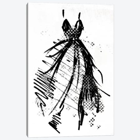 Silver Runway Dress Canvas Print #ORE4} by On Rei Canvas Print