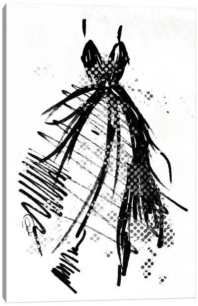 Silver Runway Dress Canvas Art Print