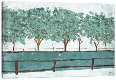 Trees and Fences Canvas Art Print
