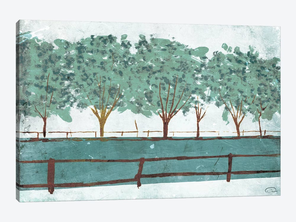 Trees and Fences by On Rei 1-piece Art Print
