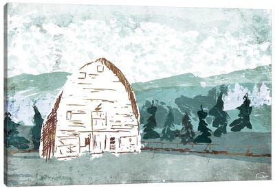 Barn in the Trees Canvas Art Print