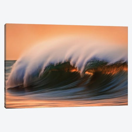 Dark Breaking Wave Canvas Print #ORI13} by David Orias Canvas Art