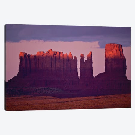 Monument Valley Alspen Glow Canvas Print #ORI19} by David Orias Canvas Artwork