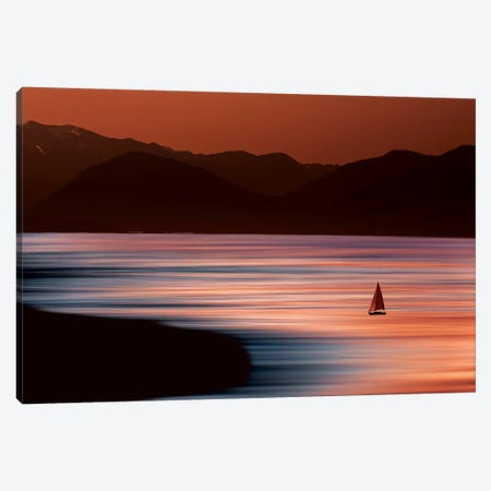 Sailboat on Surreal Ocean Canvas Print #ORI29} by David Orias Canvas Print