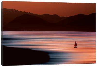 Sailboat on Surreal Ocean Canvas Art Print