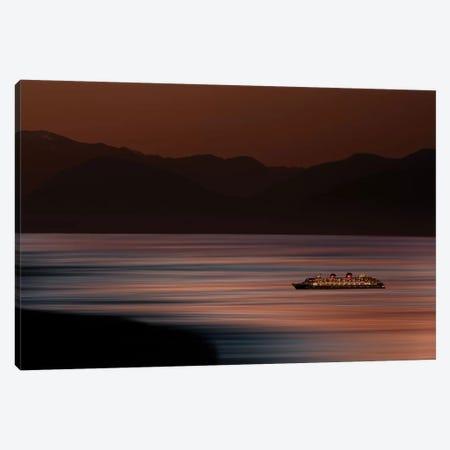 Ship on Surreal Ocean Canvas Print #ORI32} by David Orias Canvas Wall Art