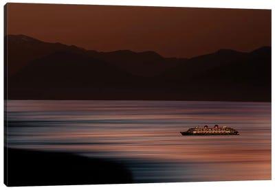 Ship on Surreal Ocean Canvas Art Print