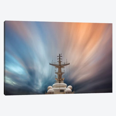 Streaming Clouds and Ship Canvas Print #ORI34} by David Orias Art Print