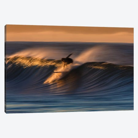 Surfer Take Off Canvas Print #ORI36} by David Orias Canvas Art Print