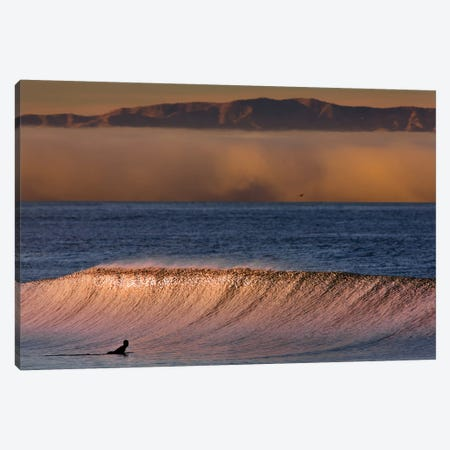 Surfer Wave and Fog Canvas Print #ORI37} by David Orias Canvas Print