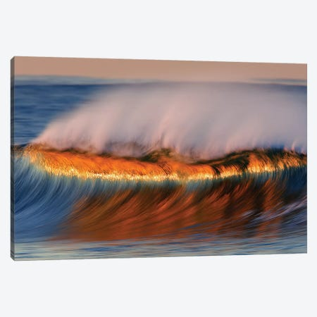 Beautiful Dawn Wave Canvas Print #ORI3} by David Orias Canvas Wall Art