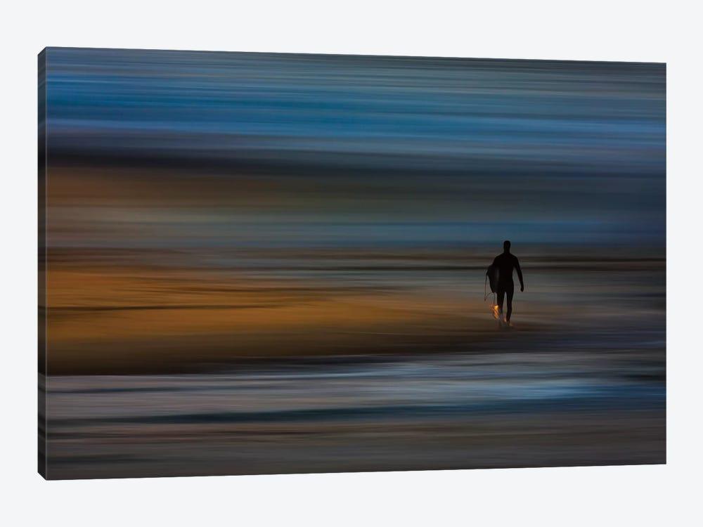 Walking Surfer by David Orias 1-piece Canvas Art