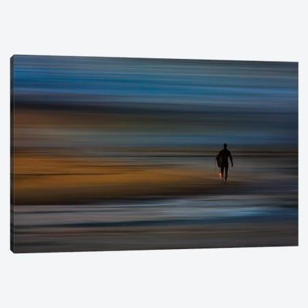 Walking Surfer 3-Piece Canvas #ORI44} by David Orias Canvas Wall Art