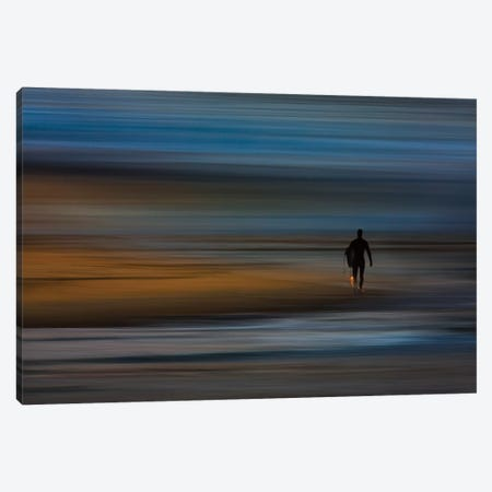 Walking Surfer Canvas Print #ORI44} by David Orias Canvas Wall Art