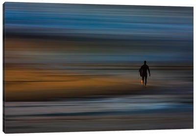 Walking Surfer Canvas Art Print