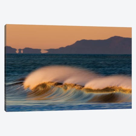 Wave and Islands Canvas Print #ORI45} by David Orias Canvas Wall Art
