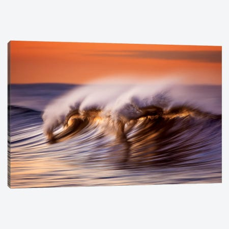 Wispey Wave At Dawn Canvas Print #ORI48} by David Orias Canvas Art Print