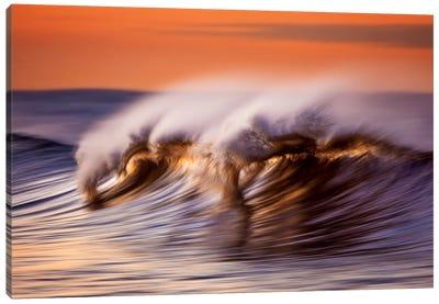Wispey Wave At Dawn Canvas Art Print