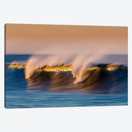 Breaking Blue Wave Canvas Print #ORI8} by David Orias Canvas Artwork
