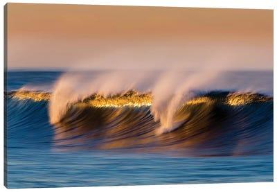 Breaking Blue Wave Canvas Art Print