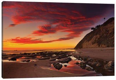 Califoria Beach at Sunset Canvas Art Print