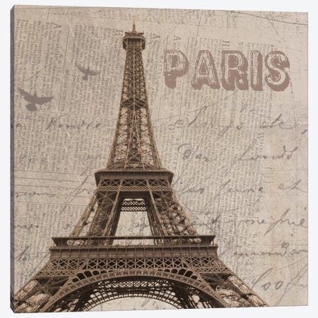 Paris I Canvas Print #ORL103} by Irena Orlov Canvas Art Print