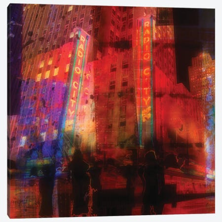 Radio City Canvas Print #ORL108} by Irena Orlov Art Print