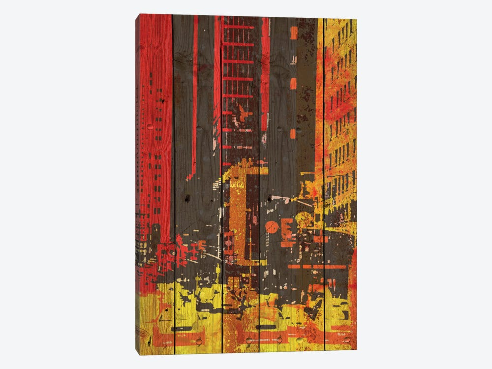 Red Building I 1-piece Canvas Art Print