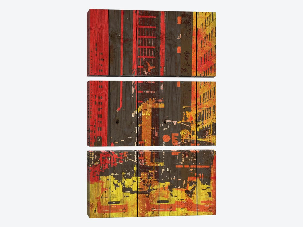 Red Building I by Irena Orlov 3-piece Canvas Art Print
