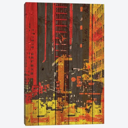 Red Building I 3-Piece Canvas #ORL109} by Irena Orlov Canvas Print