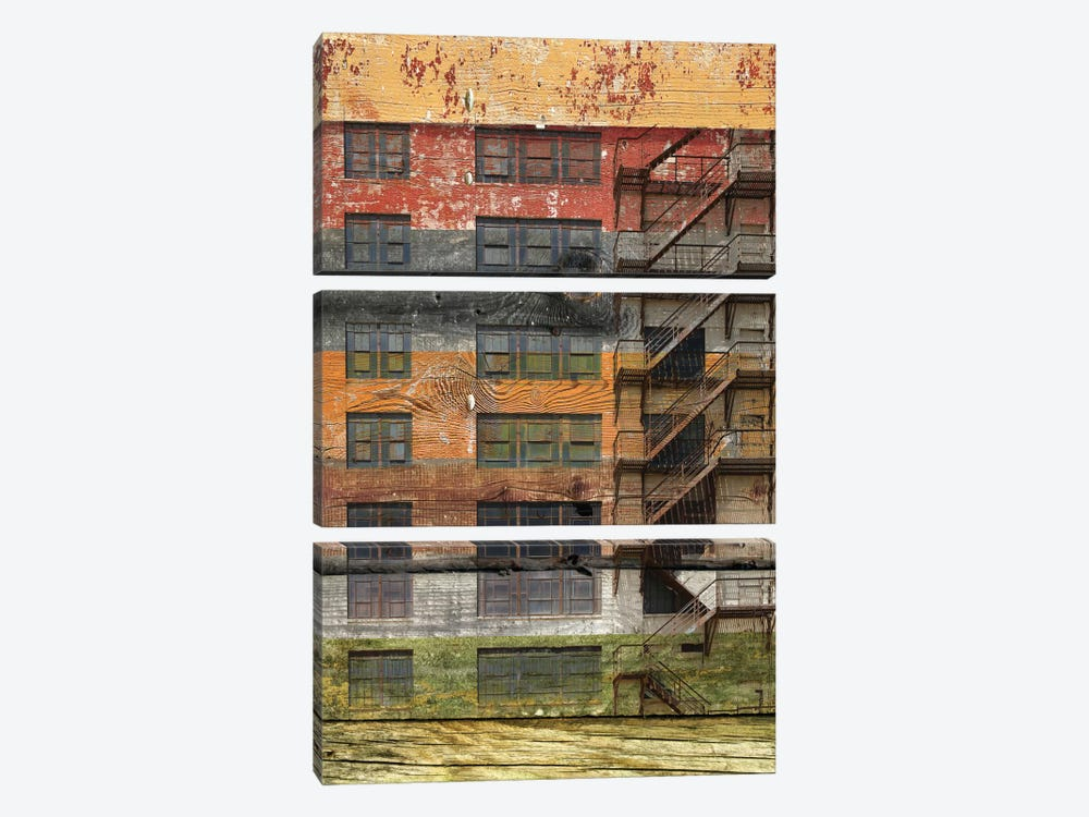 Building III by Irena Orlov 3-piece Canvas Art Print