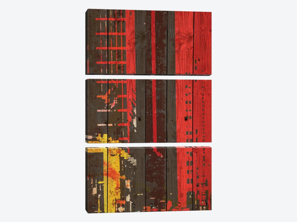 Red Building II by Irena Orlov 3-piece Canvas Art Print