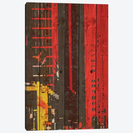 Red Building II Canvas Print #ORL110} by Irena Orlov Canvas Wall Art