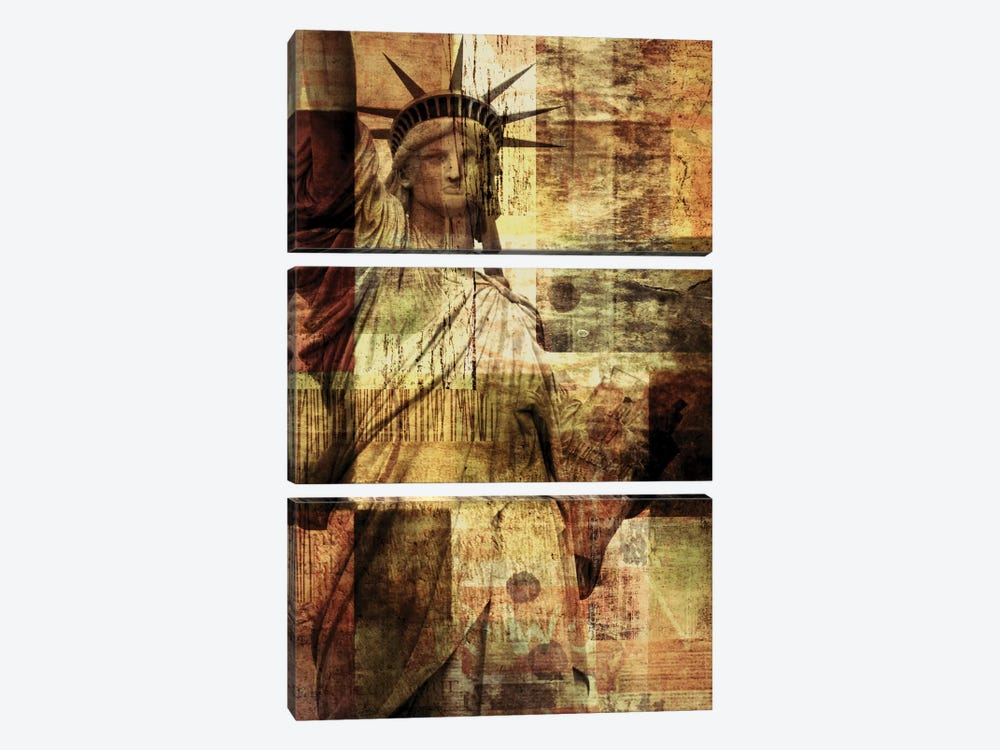 Statue Of Liberty by Irena Orlov 3-piece Canvas Artwork