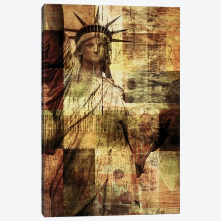Statue Of Liberty Canvas Print #ORL111} by Irena Orlov Canvas Wall Art
