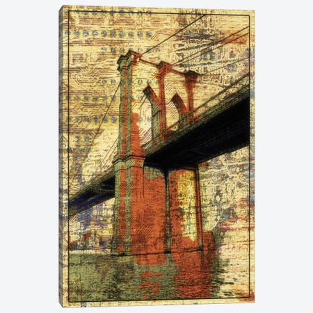 The Brooklyn Bridge, NYC Canvas Print #ORL114} by Irena Orlov Canvas Art Print