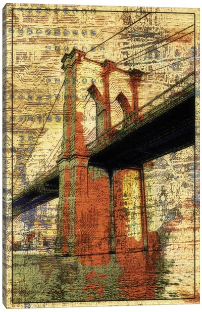 The Brooklyn Bridge, NYC Canvas Print #ORL114