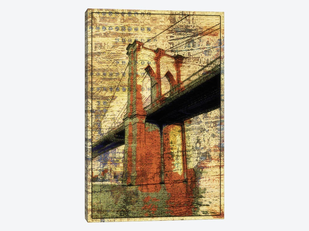 The Brooklyn Bridge, NYC by Irena Orlov 1-piece Canvas Art Print
