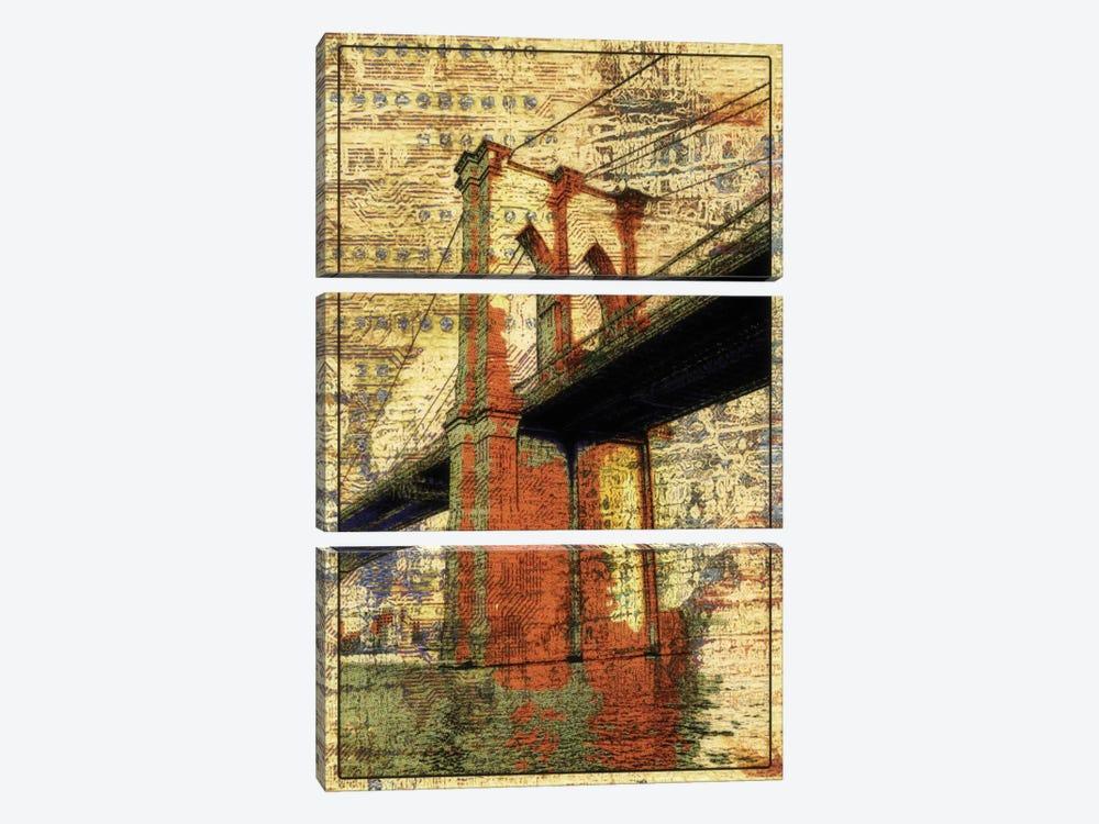 The Brooklyn Bridge, NYC by Irena Orlov 3-piece Canvas Print