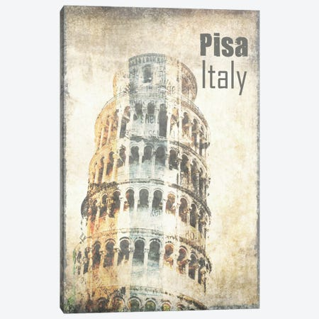 Tower Of Pisa Canvas Print #ORL116} by Irena Orlov Canvas Art Print