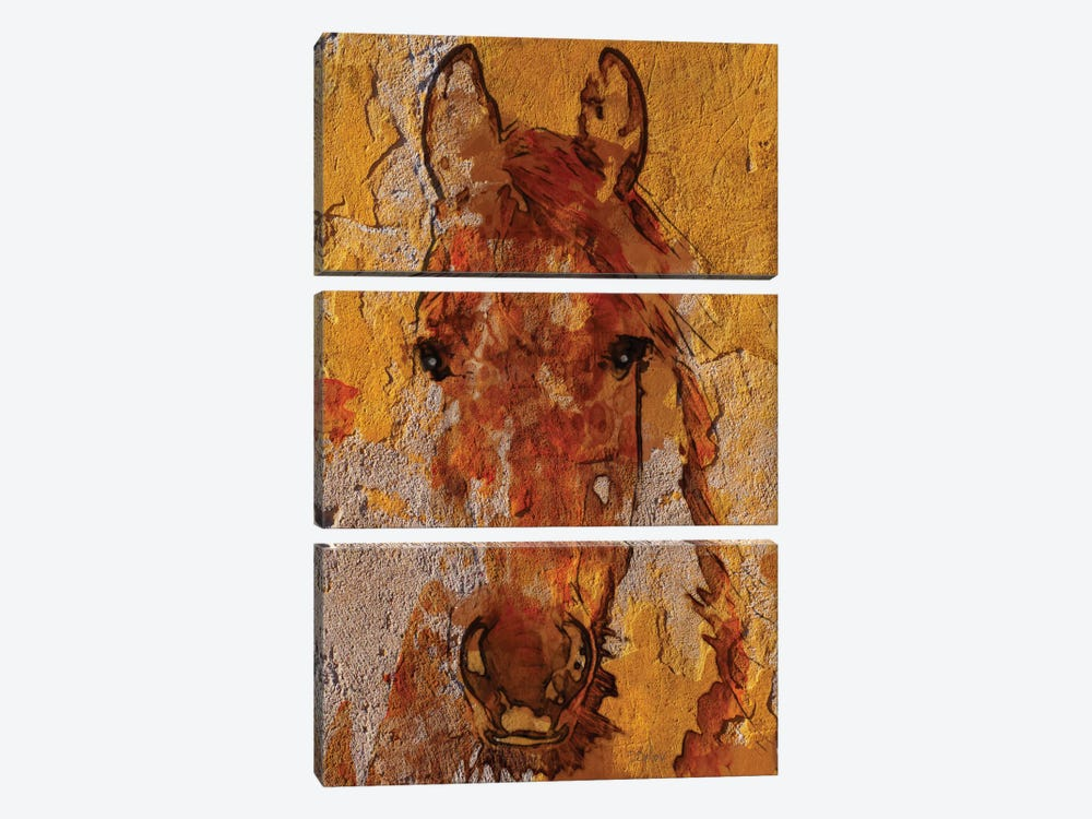Yellow Horse by Irena Orlov 3-piece Art Print