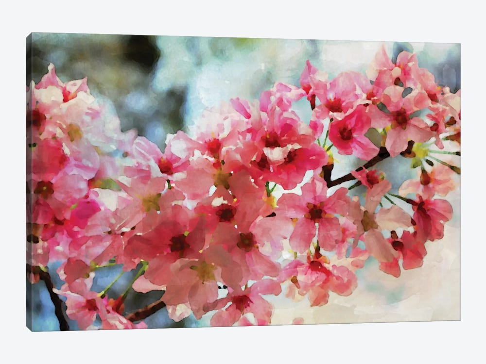 Cherry Flowers III by Irena Orlov 1-piece Canvas Art
