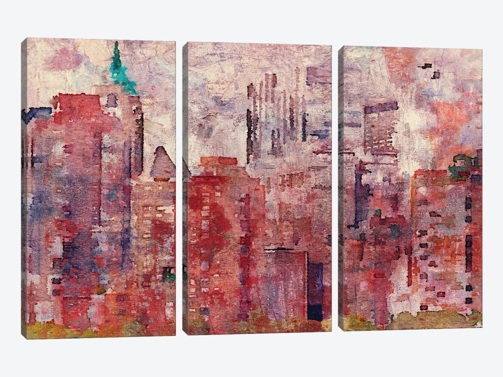 Colorful New York II by Irena Orlov 3-piece Canvas Art Print