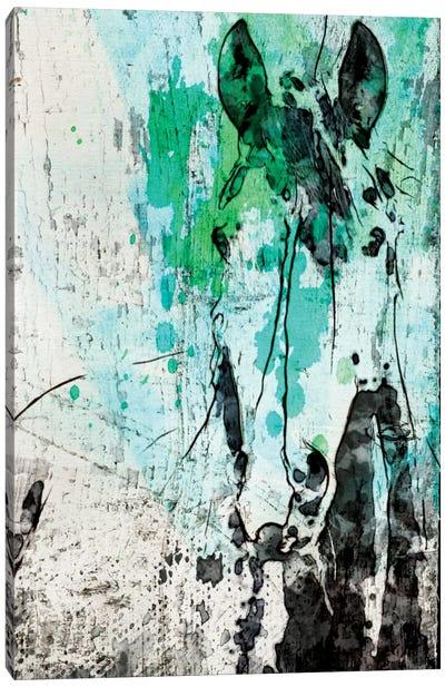 French Kiss Horse Canvas Art Print