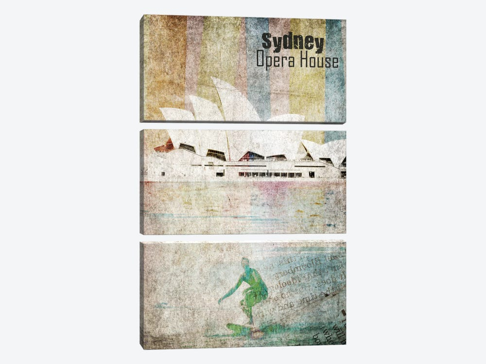 Opera House, Sydney by Irena Orlov 3-piece Canvas Art