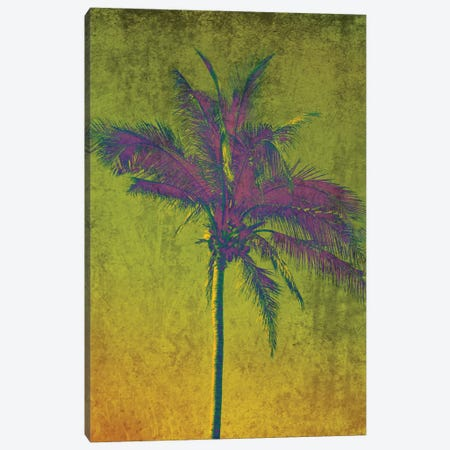 Purple Palm On Green Canvas Print #ORL138} by Irena Orlov Canvas Artwork