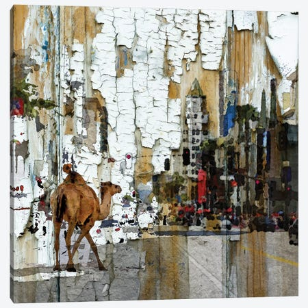 Camel In The City Canvas Print #ORL13} by Irena Orlov Art Print