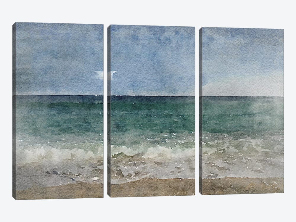 Seascape II by Irena Orlov 3-piece Canvas Artwork