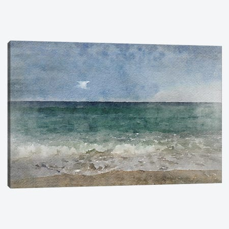 Seascape II 3-Piece Canvas #ORL140} by Irena Orlov Art Print